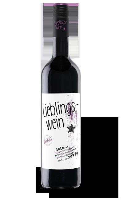 lieblingswein: cuvee rot-halbtrocken